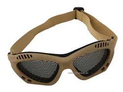 Airsoft Brille - Metallgitter, beige
