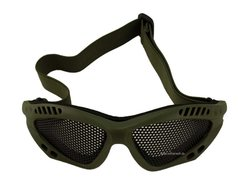 Airsoft Brille - Metallgitter, oliv