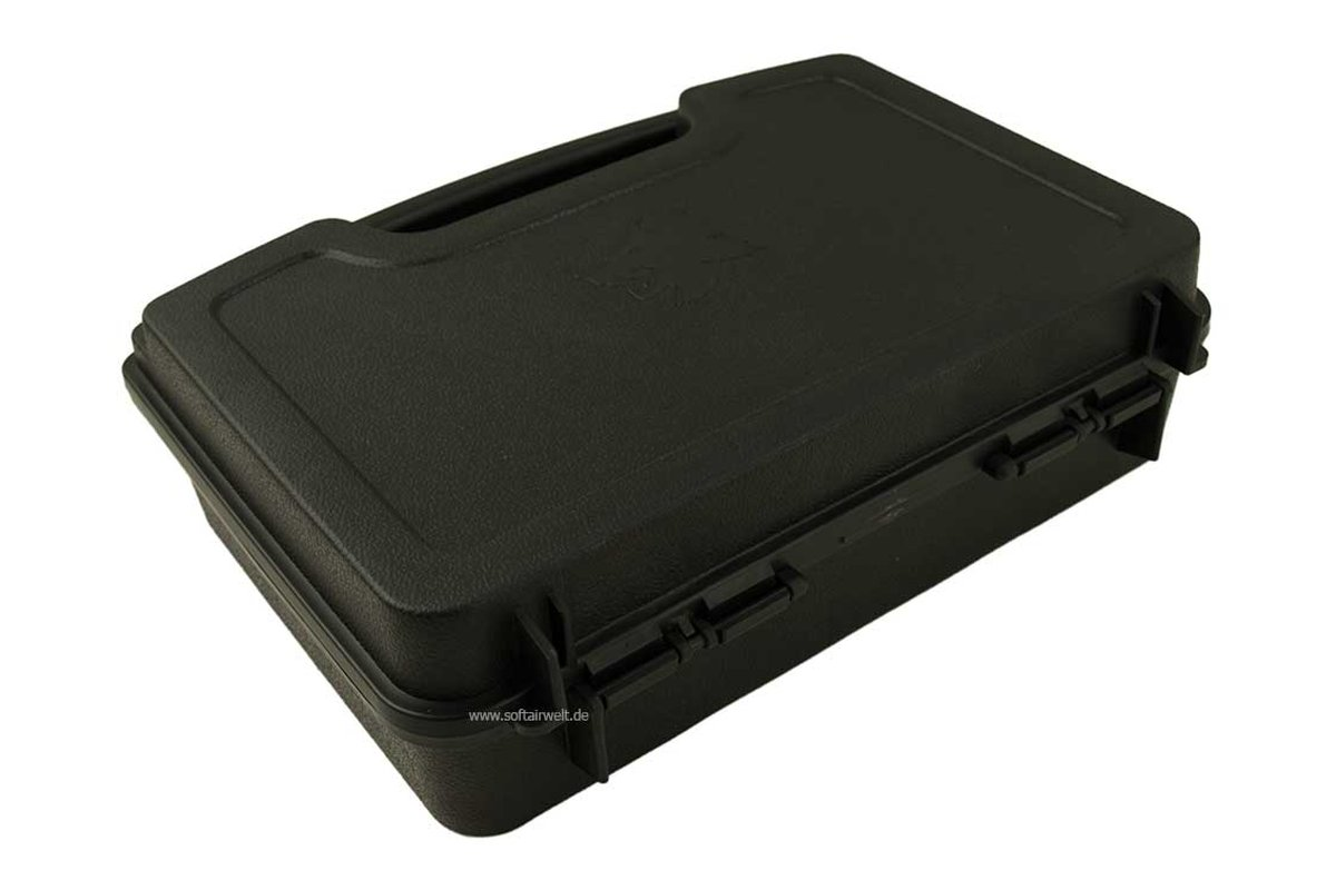 pistolen koffer kunststoff klein abschlie bar schwarz 14 9. Black Bedroom Furniture Sets. Home Design Ideas