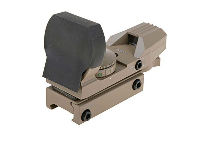 Tactical Reticle Sight rot grün - 4 Dots, tan