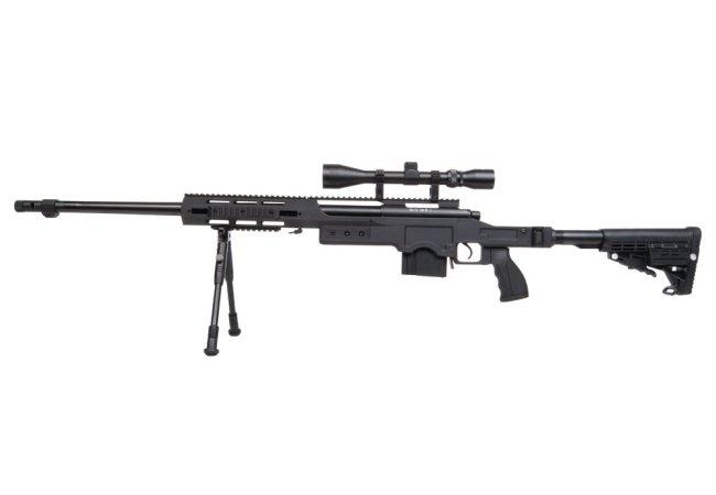 Softair 4412 sniper set inkl. zielfernrohr und zweibein im softair
