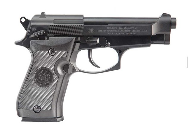 Co2 Pistole Beretta M84 FS BlowBack 4,5mm Stahl BBs
