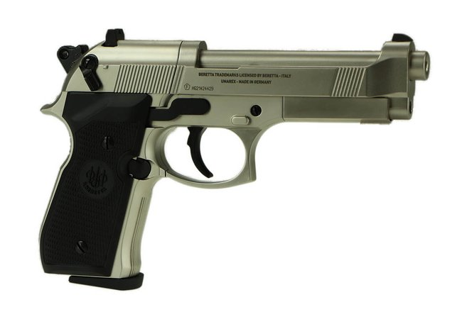 Beretta M92 FS CO2, Nickel, cal. 4,5mm