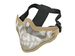 Mesh Maske, deluxe, V2, Tan - Weiss